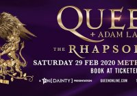Queen Adam Lambert Rhapsody Tour 2020 Photo From Metricon Stadium